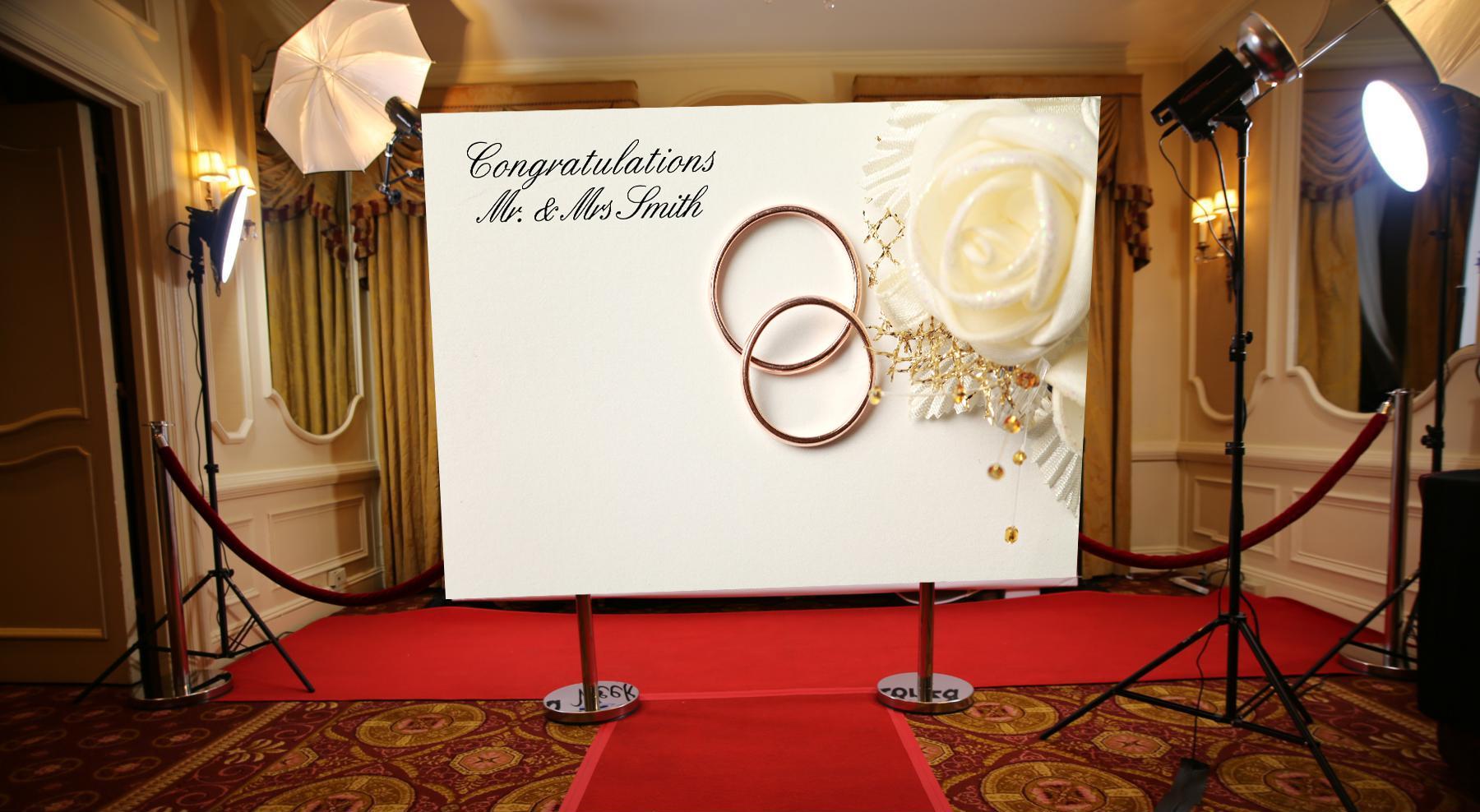 art display panels - weddings