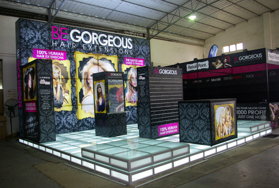 LED flooring for BeGorgeous exhibition stand