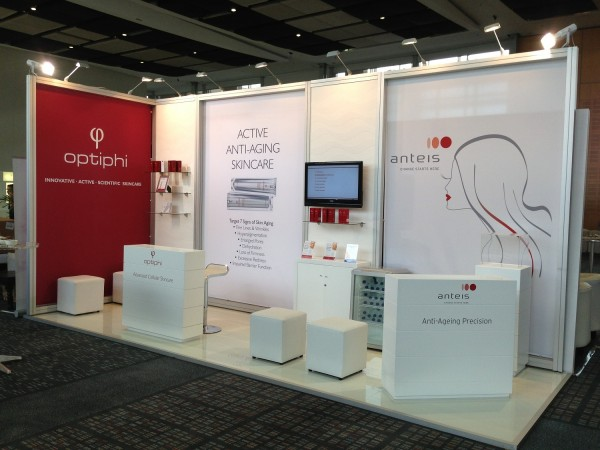 exhibition stand and furniture for Optiphi