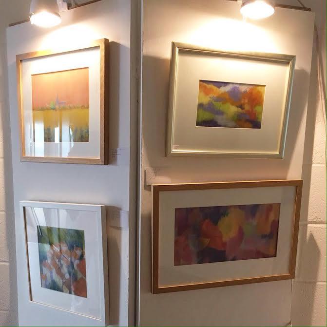 art display panels at Norwich & Norfolk Open Studios