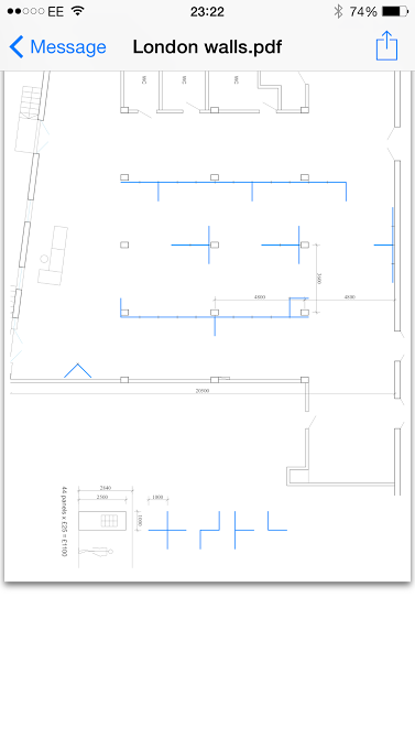 Plan of the exhibition walls for the Free Range Show at the Old Truman Brewery