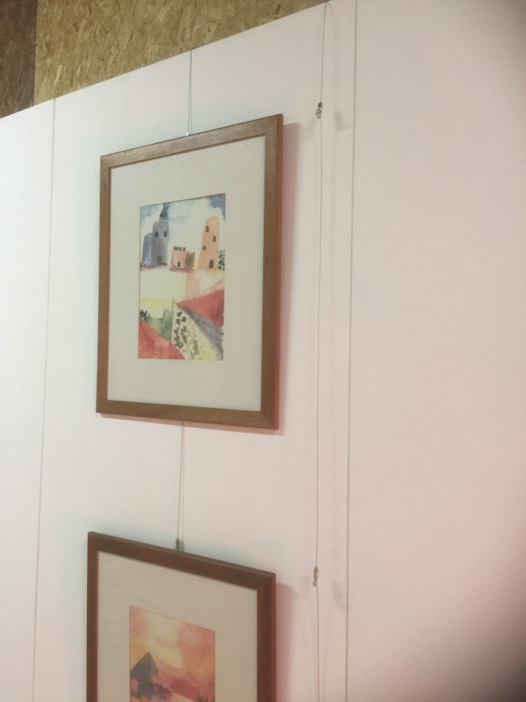 multi hanging system for art display walling