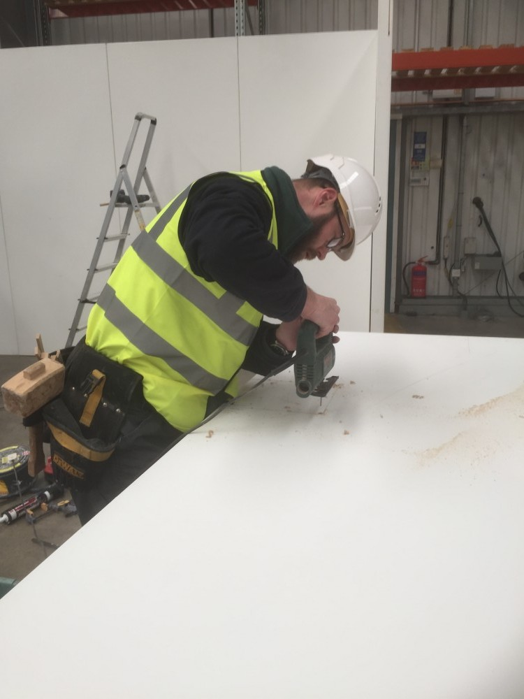 bespoke adaptions for temporary walling