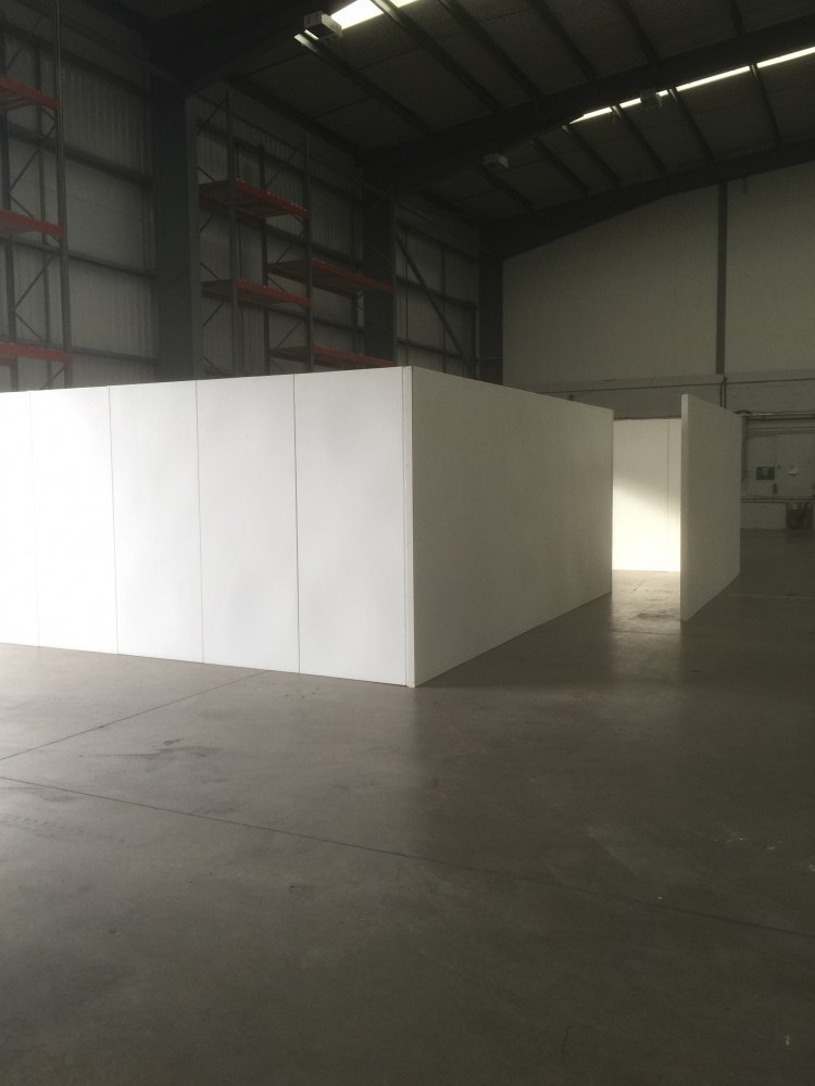 creating space with temporary walling