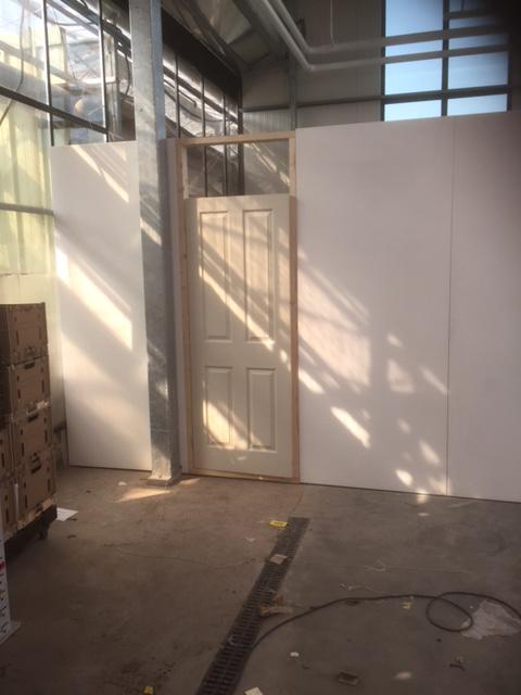 DoubleH temporary walling with door