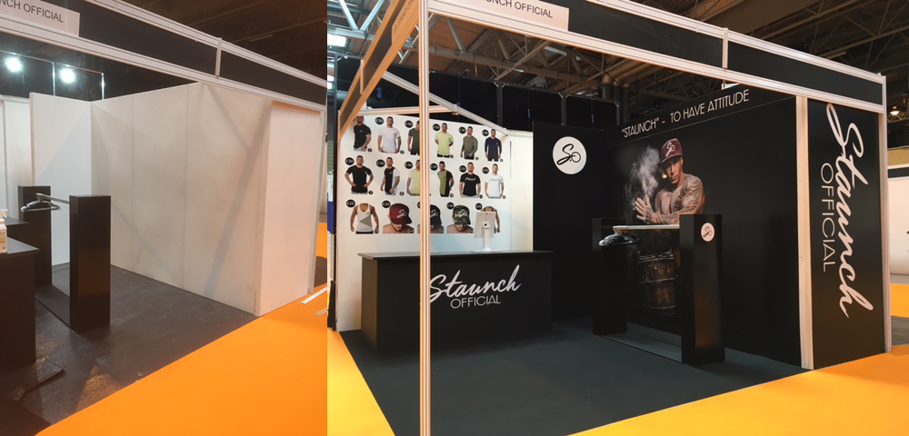 Staunch exhibition stand