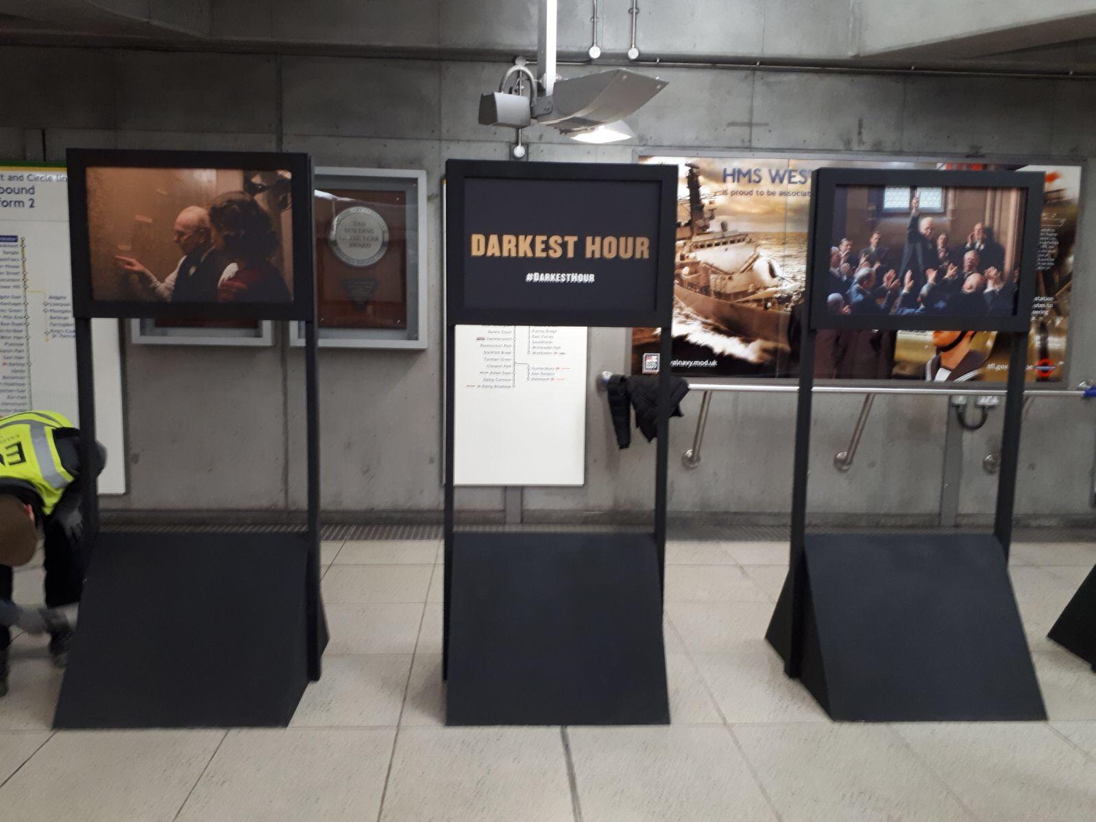 Black frame advertising panels