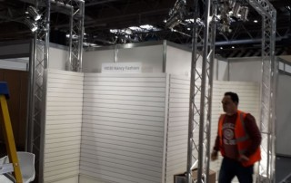 truss lighting rig for exhibition stand