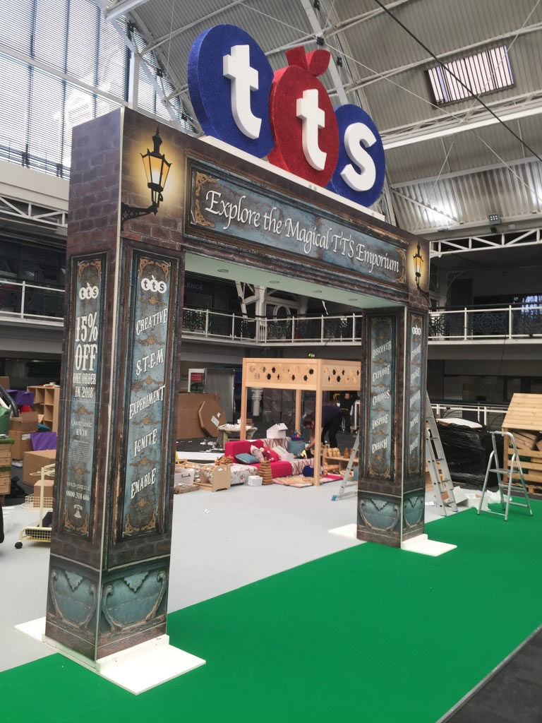 Exhibition archway with lighting for TTS